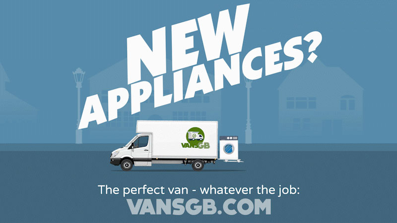 van hire for moving fridges and furniture